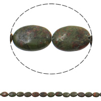 Ruby in Zoisite Beads, Flat Oval, 13x18x5mm, Hole:Approx 1.5mm, Approx 22PCs/Strand, Sold Per Approx 15.3 Inch Strand