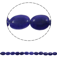 Dyed Marble Beads Flat Oval blue 13x18x5mm Hole:Approx 1.5mm Approx 21PCs/Strand Sold Per Approx 14.5 Inch Strand