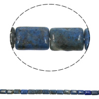 Natural Blue Agate Beads, Rectangle, 13x18x6mm, Hole:Approx 1.5mm, Approx 24PCs/Strand, Sold Per Approx 16.9 Inch Strand