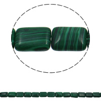 Malachite Beads Rectangle 13x18x6mm Hole:Approx 1.5mm Approx 22PCs/Strand Sold Per Approx 15.7 Inch Strand
