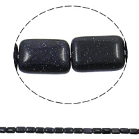 Natural Blue Goldstone Beads, Rectangle, 13x18x6mm, Hole:Approx 1.5mm, Approx 22PCs/Strand, Sold Per Approx 15.3 Inch Strand