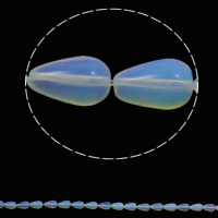 Sea Opal Beads, Teardrop, 8x13mm, Hole:Approx 1.5mm, Approx 33PCs/Strand, Sold Per Approx 16.5 Inch Strand