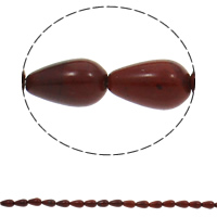 Red Jasper Beads, Teardrop, natural, 8x13mm, Hole:Approx 1.5mm, Approx 33PCs/Strand, Sold Per Approx 16.9 Inch Strand