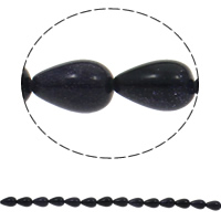 Natural Blue Goldstone Beads, Teardrop, 8x13mm, Hole:Approx 1.5mm, Approx 33PCs/Strand, Sold Per Approx 16.5 Inch Strand