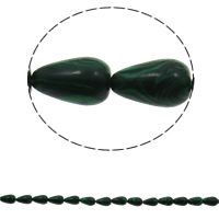 Malakit Bead Teardrop syntetisk 8x13mm Hole:Ca. 1.5mm Ca. 33pc'er/Strand Solgt Per Ca. 16.5 inch Strand
