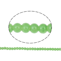 Fashion Glass Beads, Round, light green, 6mm, Hole:Approx 1mm, Length:Approx 31.4 Inch, 10Strands/Bag, Approx 148PCs/Strand, Sold By Bag