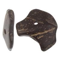 Кокос подвески, скорлупа кокосового ореха, натуральный, оригинальный цвет, 12-18mmx13-22mm, отверстие:Приблизительно 1mm, 1000ПК/сумка, продается сумка