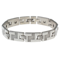 Stainless Steel Bracelet Finding, original color, 25x12x3mm, Inner Diameter:Approx 3mm, Sold Per Approx 8.5 Inch Strand