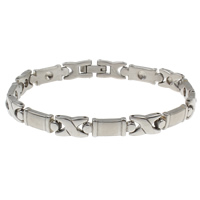 Stainless Steel Bracelet Finding original color 17.50x6.50x3mm Inner Diameter:Approx 2mm Sold Per Approx 7 Inch Strand