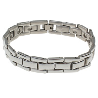 Stainless Steel Bracelet Findings, original color, 19x13x4mm, Inner Diameter:Approx 3mm, Sold Per Approx 8.5 Inch Strand