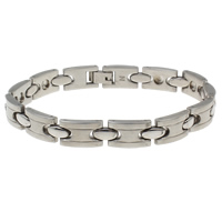 Stainless Steel Bracelet Finding, original color, 15x9.50x3.50mm, Inner Diameter:Approx 3mm, Sold Per Approx 8.5 Inch Strand