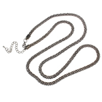 Iron Necklace Chain, with 7.5cm extender chain, plumbum black color plated, lantern chain, nickel, lead & cadmium free, 5mm, Sold Per Approx 29 Inch Strand