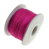 Nylon Cord, with plastic spool & Cardboard, bright rosy red, 55x36mm, 0.8mm, Hole:Approx 16mm, 50m/PC, Sold By PC