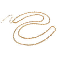 Iron Necklace Chain, with 8cm extender chain, KC gold color plated, rope chain, nickel, lead & cadmium free, 3.5mm, Sold Per Approx 29.5 Inch Strand