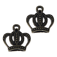 Zinc Alloy Pendant Rhinestone Setting Crown antique bronze color plated nickel lead   cadmium free 15x16x3.50mm Hole:Approx 2mm Inner Diameter:Approx 1mm 300PCs/Lot