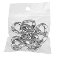 Copper Coated Plastic Linking Ring with OPP Bag Twist platinum color plated nickel lead   cadmium free
