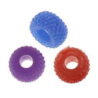 Koraliki z żywicy, żywica, Okrąg, solidny kolor, dostępnych więcej kolorów, 10x5mm, otwór:około 3.5mm, 1000komputery/torba, sprzedane przez torba