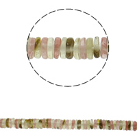البطيخ الخرز الزجاج, بطيخ, هيشي, طبيعي, 6x2mm, حفرة:تقريبا 1.5mm, تقريبا 220أجهزة الكمبيوتر/حبلا, تباع لكل تقريبا 15.7 بوصة حبلا