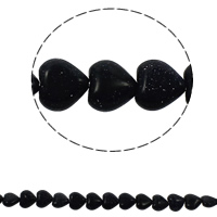 Natural Blue Goldstone Beads, Heart, 12x5mm, Hole:Approx 1.5mm, Approx 36PCs/Strand, Sold Per Approx 15.7 Inch Strand