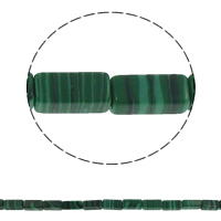 Malachite Beads, Rectangle, 6x12x4mm, Hole:Approx 1.5mm, Approx 33PCs/Strand, Sold Per Approx 15.7 Inch Strand