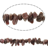 Natural Rhodonite Beads, Nuggets, 2-7x5-11mm, Hole:Approx 1mm, Sold Per Approx 35 Inch Strand