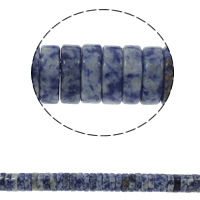 Natural Blue Spot Stone Beads, Heishi, 15x5mm, Hole:Approx 1.5mm, Approx 77PCs/Strand, Sold Per Approx 15.7 Inch Strand