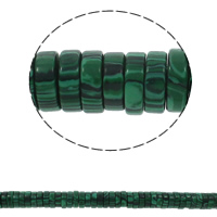 Malachite Beads, Heishi, 15x5mm, Hole:Approx 1.5mm, Approx 77PCs/Strand, Sold Per Approx 15.7 Inch Strand