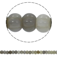 Natural Grey Agate Beads, Rondelle, corrugated, 15x10mm, Hole:Approx 1.5mm, Approx 40PCs/Strand, Sold Per Approx 15.7 Inch Strand