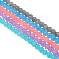 الخرز أزياء زجاج, جولة, حجم مختلفة للاختيار, المزيد من الألوان للاختيار, حفرة:تقريبا 1mm, طول:تقريبا 31.4 بوصة, تباع بواسطة حقيبة