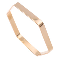 Stainless Steel Bangle, Hexagon, rose gold color plated, 79x71x6mm, Inner Diameter:Approx 76x67mm, Length:Approx 8.5 Inch, Sold By PC