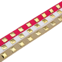 Velveteen Cord, with Aluminum, gold color plated, more colors for choice, 7x2.5mm, 10Strands/Bag, 1m/Strand, Sold By Bag
