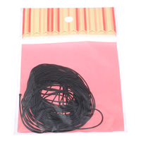 Wax Cord Waxed Linen Cord with OPP Bag black 1mm 10Yards/Bag