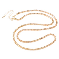 Iron Necklace Chain, with 7cm extender chain, KC gold color plated, lantern chain, nickel, lead & cadmium free, 4mm, Sold Per Approx 29 Inch Strand