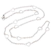 Stainless Steel Chain Necklace oval chain original color 7x6.50x0.50mm Sold Per Approx 19.5 Inch Strand