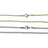 Stal nierdzewna Nekclace Chain, Powlekane, różnej wielkości do wyboru & lina łańcucha, dostępnych więcej kolorów, 20nici/wiele, sprzedane przez wiele