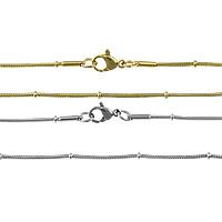 Stal nierdzewna Nekclace Chain, Powlekane, wąż łańcucha, dostępnych więcej kolorów, 2mm, 1mm, długość:około 19 cal, 20nici/wiele, sprzedane przez wiele