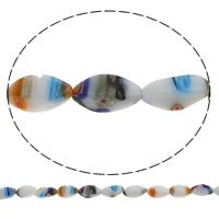 Стеклянные бусины, выполненные в технике миллефиори, Миллефиори, Закрученная форма, Связанный вручную, разный размер для выбора, отверстие:Приблизительно 1mm, длина:Приблизительно 14.2 дюймовый, продается сумка