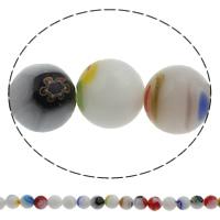 Стеклянные бусины, выполненные в технике миллефиори, Миллефиори, Круглая, Связанный вручную, разный размер для выбора, отверстие:Приблизительно 1mm, длина:Приблизительно 14.5 дюймовый, продается сумка