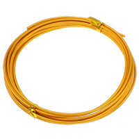 Aluminum Wire, electrophoresis, gold, 2mm, Length:Approx 30 m, 10PCs/Bag, Sold By Bag