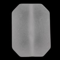 الاكريليك الخرز متجمد, أكريليك, مثمن, أبيض, 21x30x10mm, حفرة:تقريبا 1mm, 2أكياس/الكثير, تقريبا 105أجهزة الكمبيوتر/حقيبة, تباع بواسطة الكثير