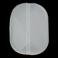 Jelly Style Acrylic Beads, Rectangle, white, 26x35x9mm, Hole:Approx 1mm, 2Bags/Lot, Approx 75PCs/Bag, Sold By Lot