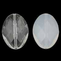 Transparent Acrylic Beads, Flat Oval, different styles for choice & faceted, 23x33x10mm, Hole:Approx 1mm, 2Bags/Lot, Approx 110PCs/Bag, Sold By Lot