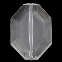 Transparent Acrylic Beads, Octagon, faceted, 26x37x8mm, Hole:Approx 1mm, 2Bags/Lot, Approx 80PCs/Bag, Sold By Lot