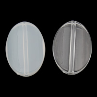 Transparent Acrylic Beads, Flat Oval, different styles for choice, 21x29x7mm, Hole:Approx 1mm, 2Bags/Lot, Approx 165PCs/Bag, Sold By Lot