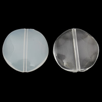 Transparent Acrylic Beads, Flat Round, different styles for choice, 30x30x7mm, Hole:Approx 1mm, 2Bags/Lot, Approx 115PCs/Bag, Sold By Lot