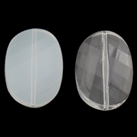 Transparent Acrylic Beads, Flat Oval, different styles for choice & faceted, 22x30x8mm, Hole:Approx 1mm, 2Bags/Lot, Approx 115PCs/Bag, Sold By Lot