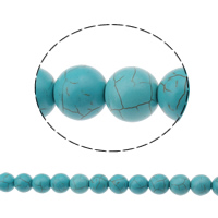Turquoise Beads, Round, green, 16mm, Hole:Approx 1mm, Approx 28PCs/Strand, Sold Per Approx 15 Inch Strand