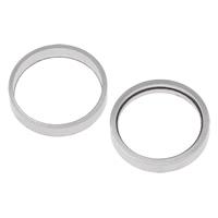 Roestvrij staal ring connectors, Donut, verschillende grootte voor keus, oorspronkelijke kleur, Verkocht door Bag