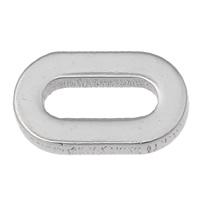 Roestvrij staal ring connectors, nummer 0, oorspronkelijke kleur, 11x7x2mm, Gat:Ca 3-5mm, 100pC's/Bag, Verkocht door Bag
