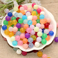 Jelly Style Acrylic Beads, Round, different size for choice, more colors for choice, Hole:Approx 1mm, Sold By Bag